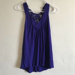 Express Women's Blue Top Size Small